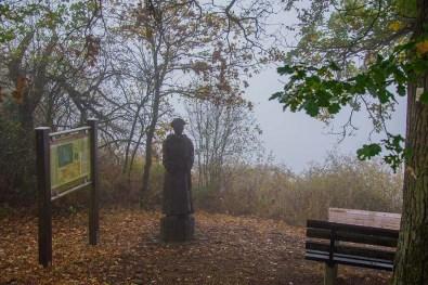 Die Statue ist zu sehen, ansonsten sind die Aussichten eher mau