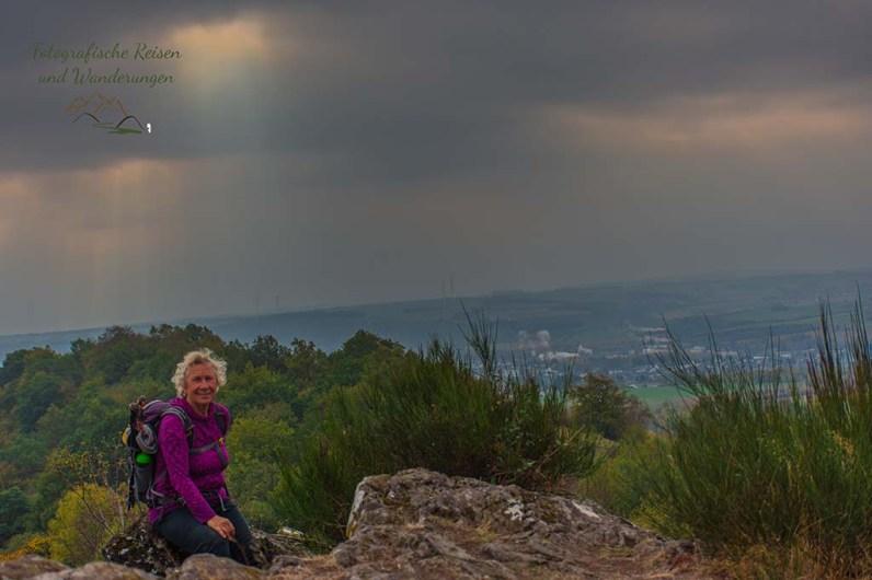 Ein Selfie muss sein, auf dem Gipfel des Ettringer Bellberg - Vulkanpfad