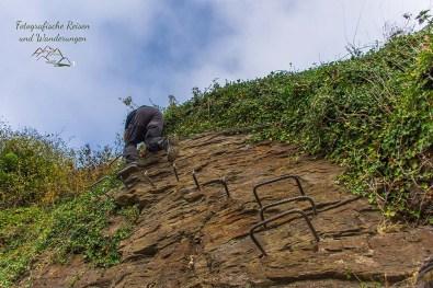 Ende des Collis Klettersteig