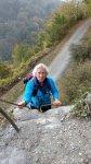 Elke auf dem Klettersteig