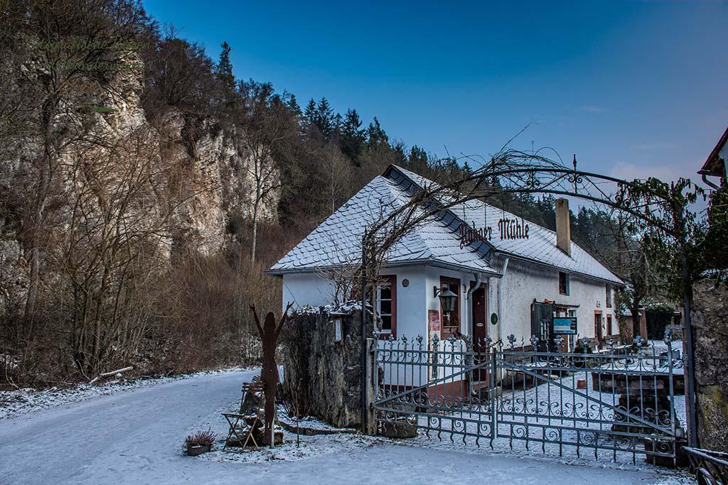Nohner Mühle im Schnee