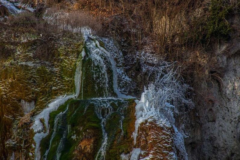 Detailaufnahme Dreimühlen Wasserfall