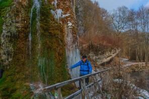 Dreimühlen Wasserfall im Winter