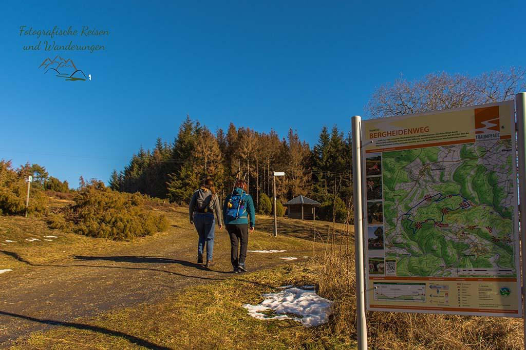 Wanderschnecken auf dem Bergheidenweg