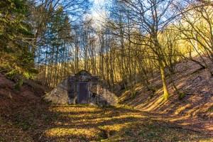 Altes Wasserhäuschen in Arft - Der Bergheidenweg
