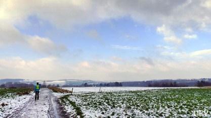 Schneereste auf den Feldern