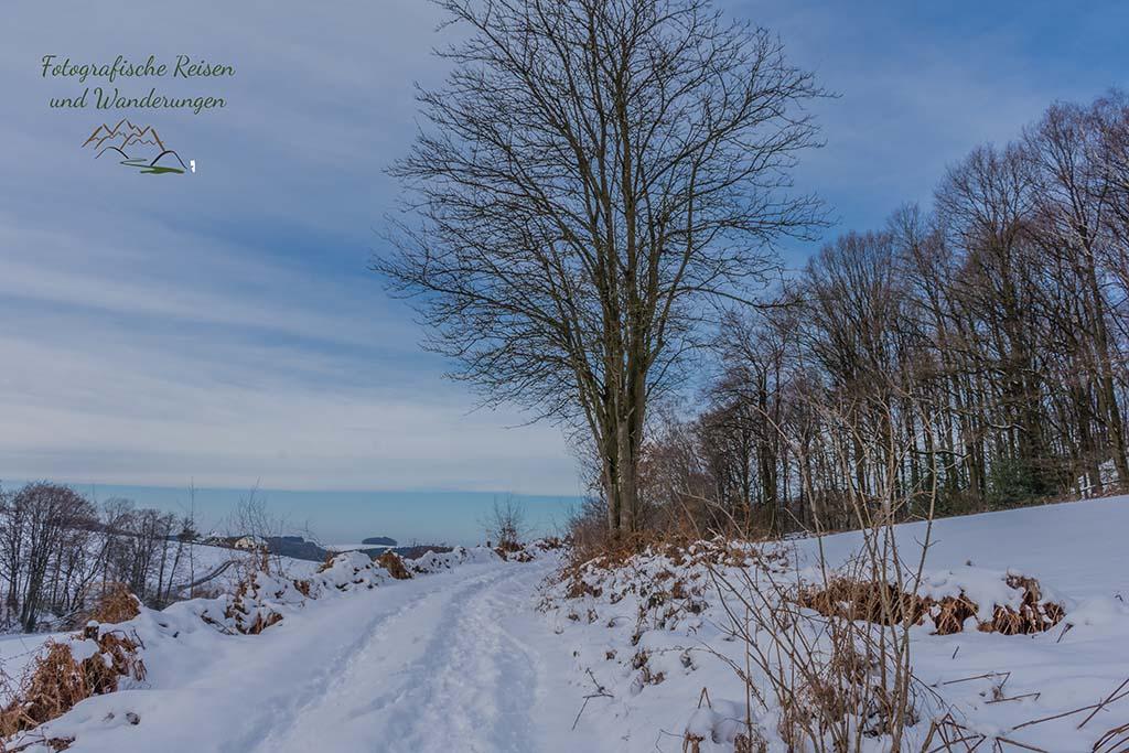 Wandern um das Freilichtmuseum Lindlar - Schneewandern