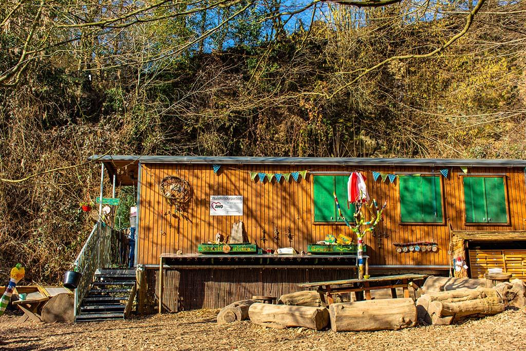 Bauwagen des Waldkindergarten AWO Rösrath