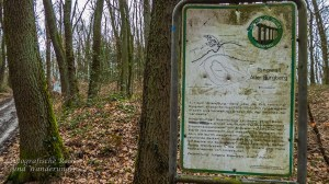 Hinweisschild Ringwall am Alten Burgberg