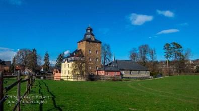 Blick zurück auf Burg Kirspenich