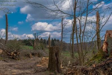 Roetgen der Ort in dem der Tornado fegte - Eifelsteig Etappe 1