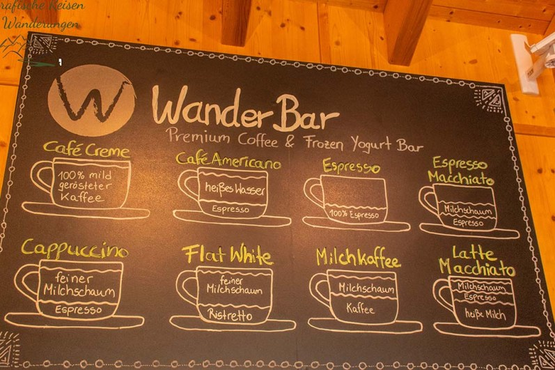 WanderBar Speisenkarte