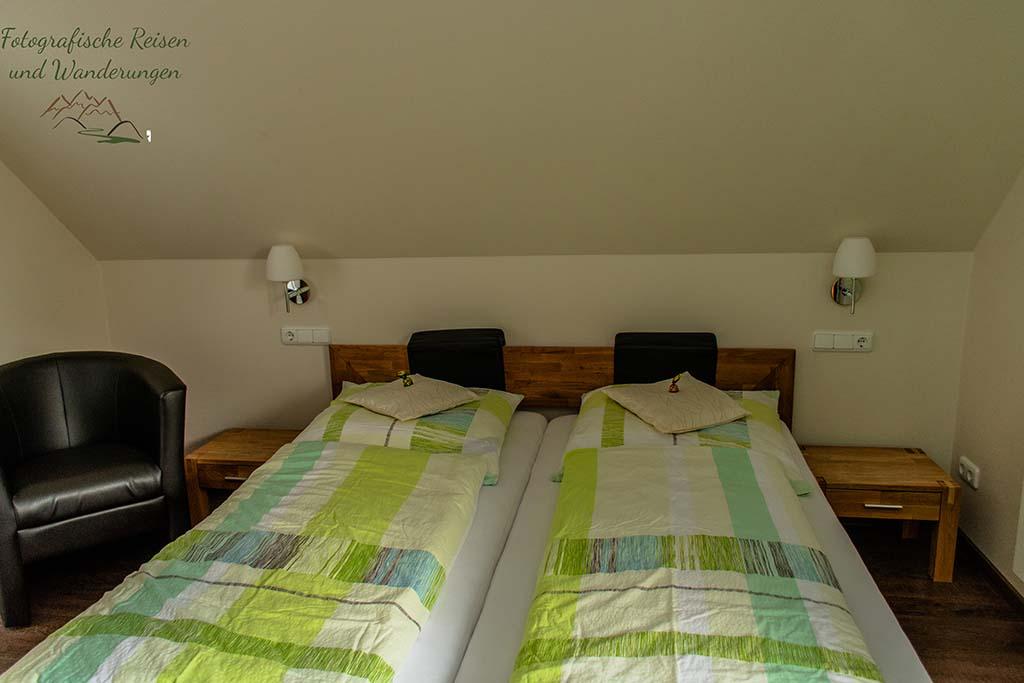 Mein Bett im Venngasthof Zur Buche