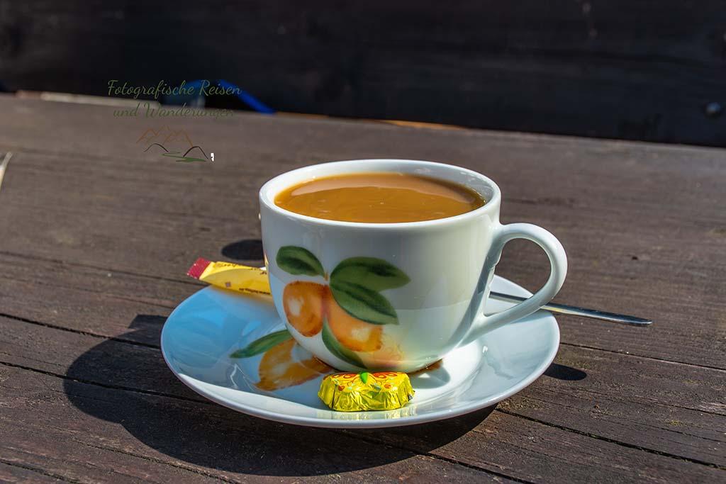Tasse Kaffee-Wandern an der Wilden Endert
