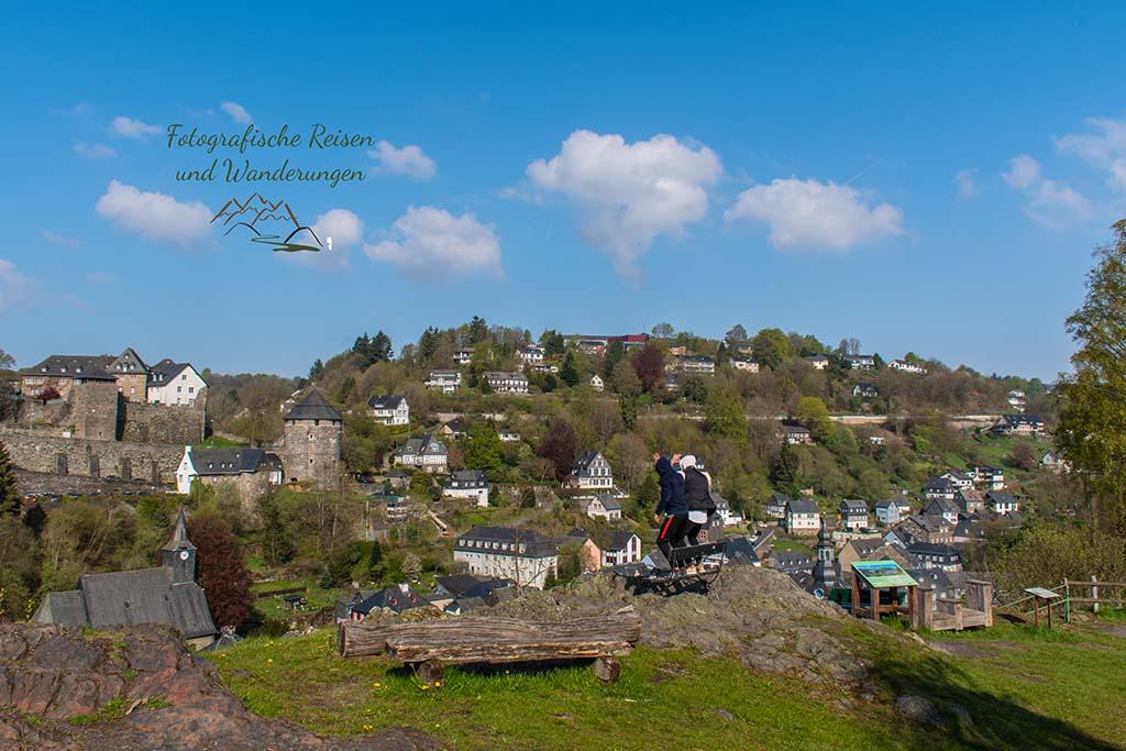 Blick auf Monschau - Eifelsteig zwischen Monschau und Einruhr