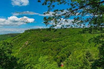 Klippe der Barreterley - Blick ins Baybachtal