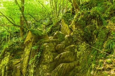 Steile STelle in der Baybachklamm