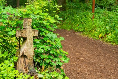 Kreuz neben der Wehrbüschkapelle
