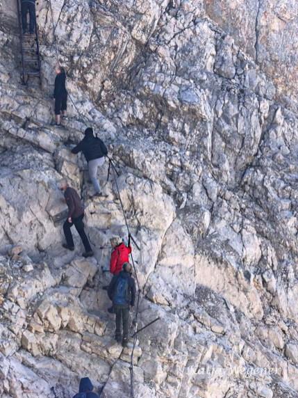 Wanderbloggerin auf der Zugspitze - Gipfelerfahrung