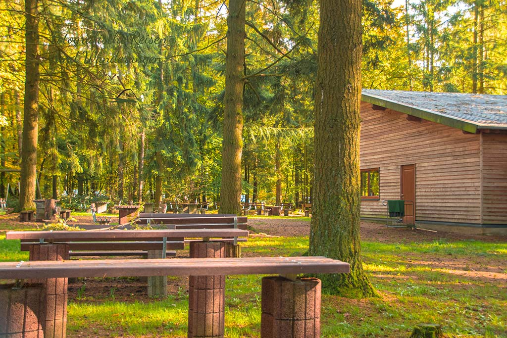 Tolle AUßenanlagen an der Drei Eichen Hütte