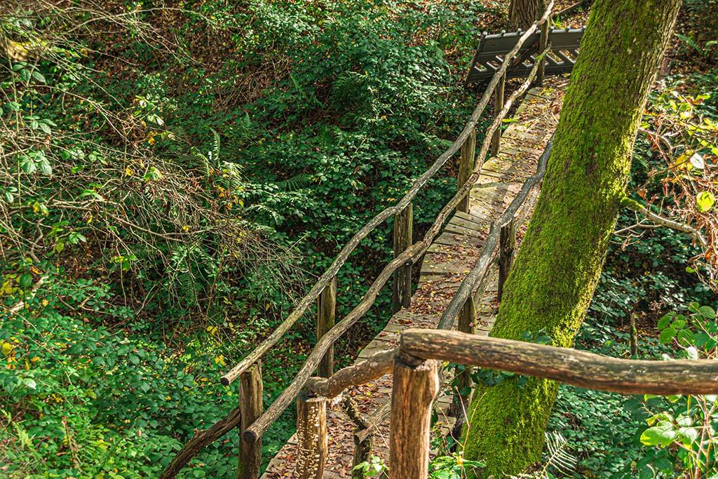 Morsches Holz an der Brücke