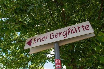 """Schild """"Erler Hütte"""""""
