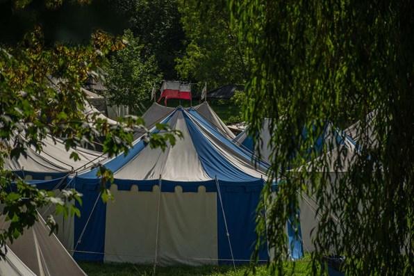 Zelte des Mittelaltermarkt