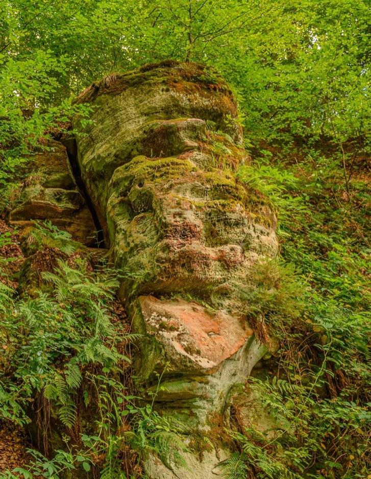 Das lachende Gesicht im Fels