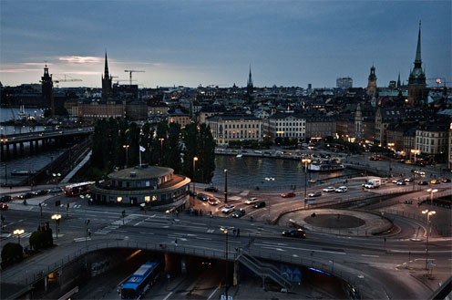 Stockholm i sensommar-ljus