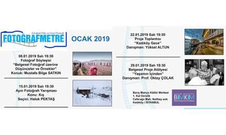 Ocak 2019 ay Etkinlik programımız