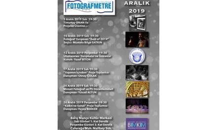 Aralık 2019 ayı etkinlik programımız