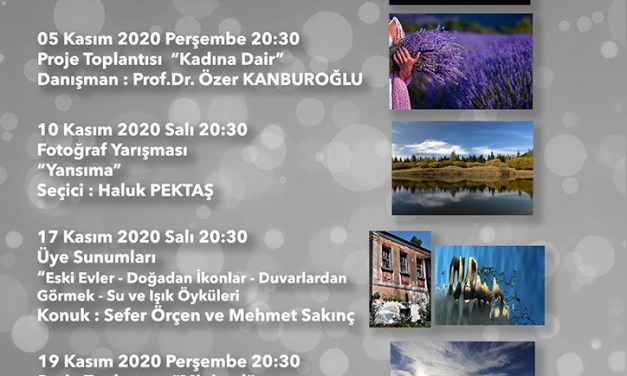 KASIM / 2020 Etkinlik Programı