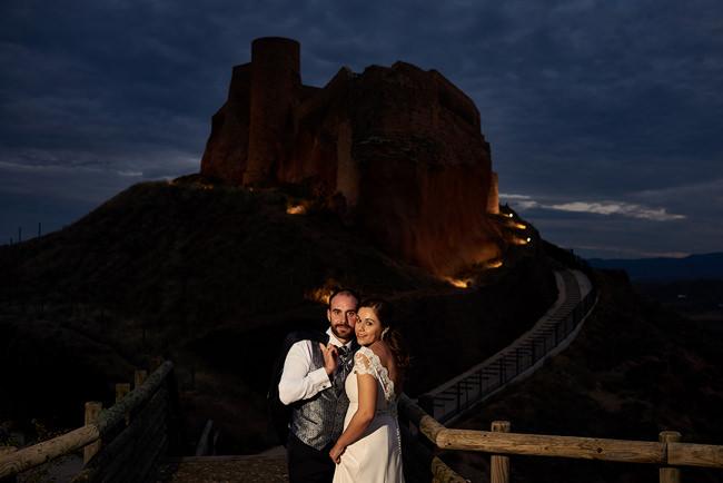 Fotografía de reportaje de boda en el castillo de Arnedo.