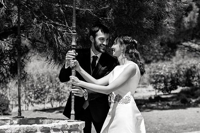 Reportaje de bodas en La Rioja, posado de novios