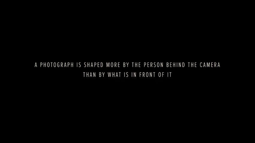 La fotografia está definida por la persona detras de la camara