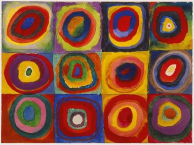 Kandisnky-Color Study-Squares with concentric circles