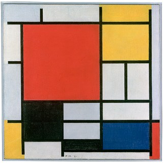 Catalogue no. SCH-1957-0071 0333329     Piet Mondriaan     Title: Composition with Large Red Plane, Yellow, Black, Gray and Blue Painting scan van neg juni2006