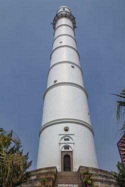 Dharahara o Torre Bhimsen de Katmandú antes del terremoto.
