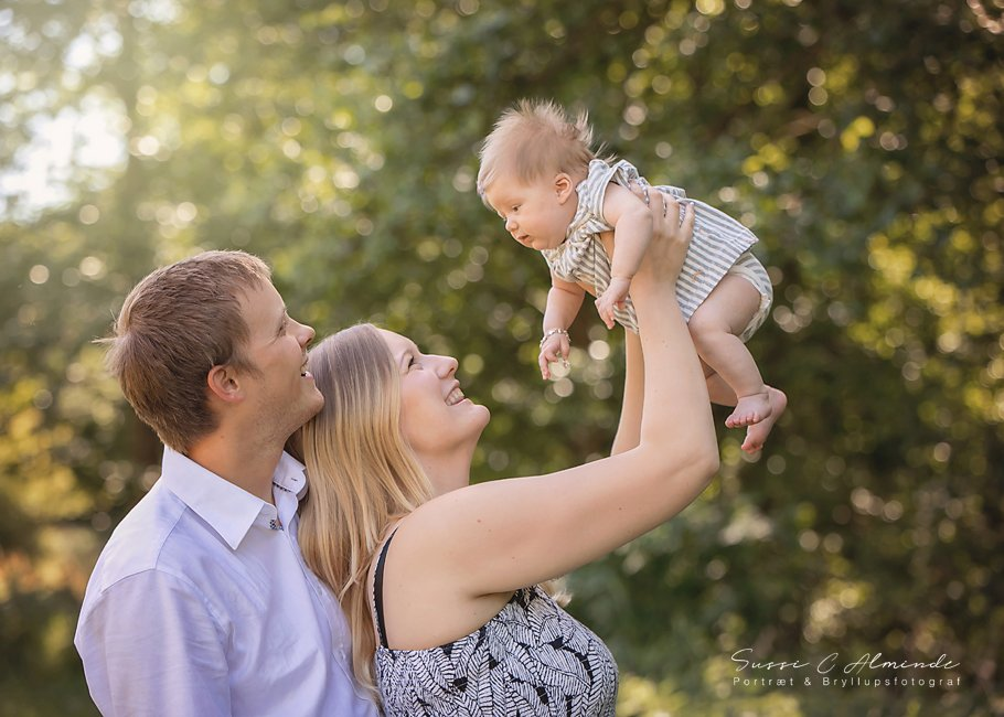 Fotografsussicalminde Melanie og Mike Familieportræt