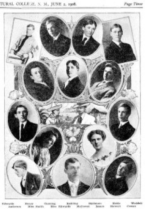 NMCA&MA Class of 1908. Justin Weddell far right second from top.