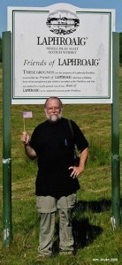 Your author on a pilgrimage to the Laphroaig distillery, Isle of Islay, Scotland. © Katherine Clarke.