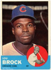 Topps 274: Lou Brock 1963. © Topps Chewing Gum, Inc.