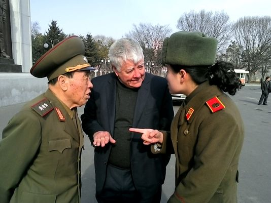 Pete McCloskey in North Korea 2014. Photo courtesy Pete McCloskey.