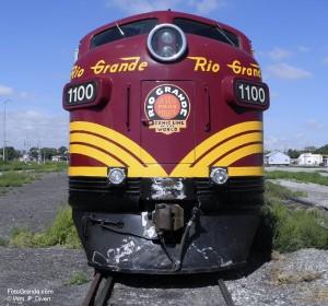 Restored 1940s-era diesel locomotive. Photo © William P. Diven.