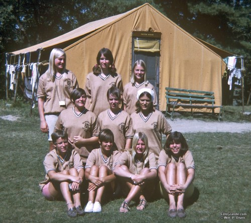 Leaders in Training aka junior counselors. Phantom Lake YMCA Camp girls' sessions. Summer 1967. © William P. Diven. (Click to enlarge)