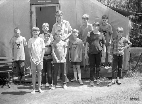 The Cripple Creek campers and their fearless leader. (Click to enlarge)
