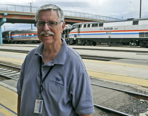 Amtrak President Joe Boardman in Albuquerque.