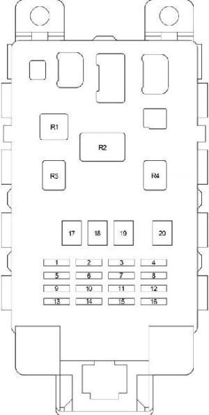 20042007 Scion xB Fuse Box Diagram » Fuse Diagram