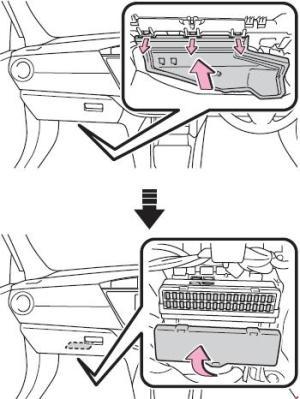 Схема предохранителей и реле Toyota Corolla  Auris (2013