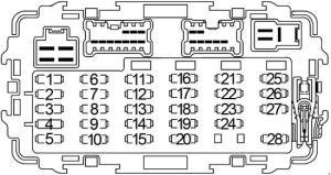 19992004 Nissan Xterra Fuse Box Diagram » Fuse Diagram
